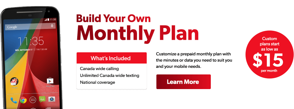 Build Your Own Monthly Plan